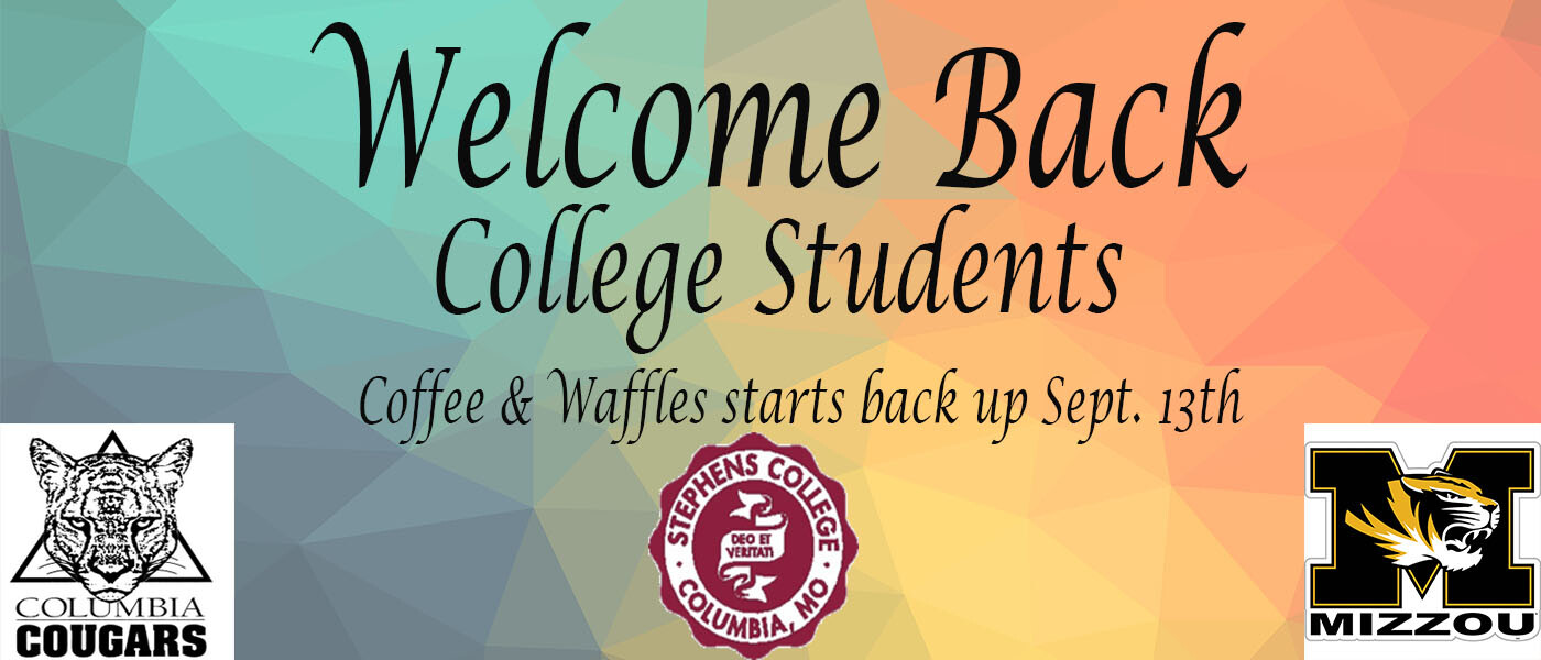 College Students Coffee and Waffles
