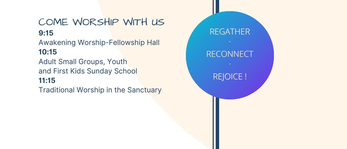 New Worship Schedule
